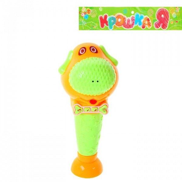 """Музыкальный микрофон """"Собака"""" (свет), зеленый"""