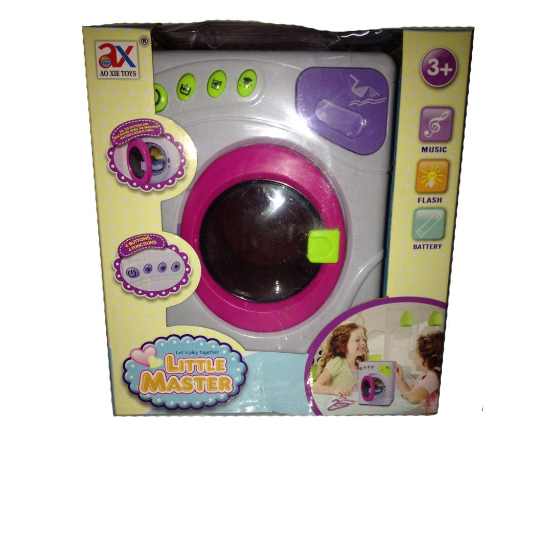 Стиральная машина Little Master (звук, свет) с зелеными кнопками