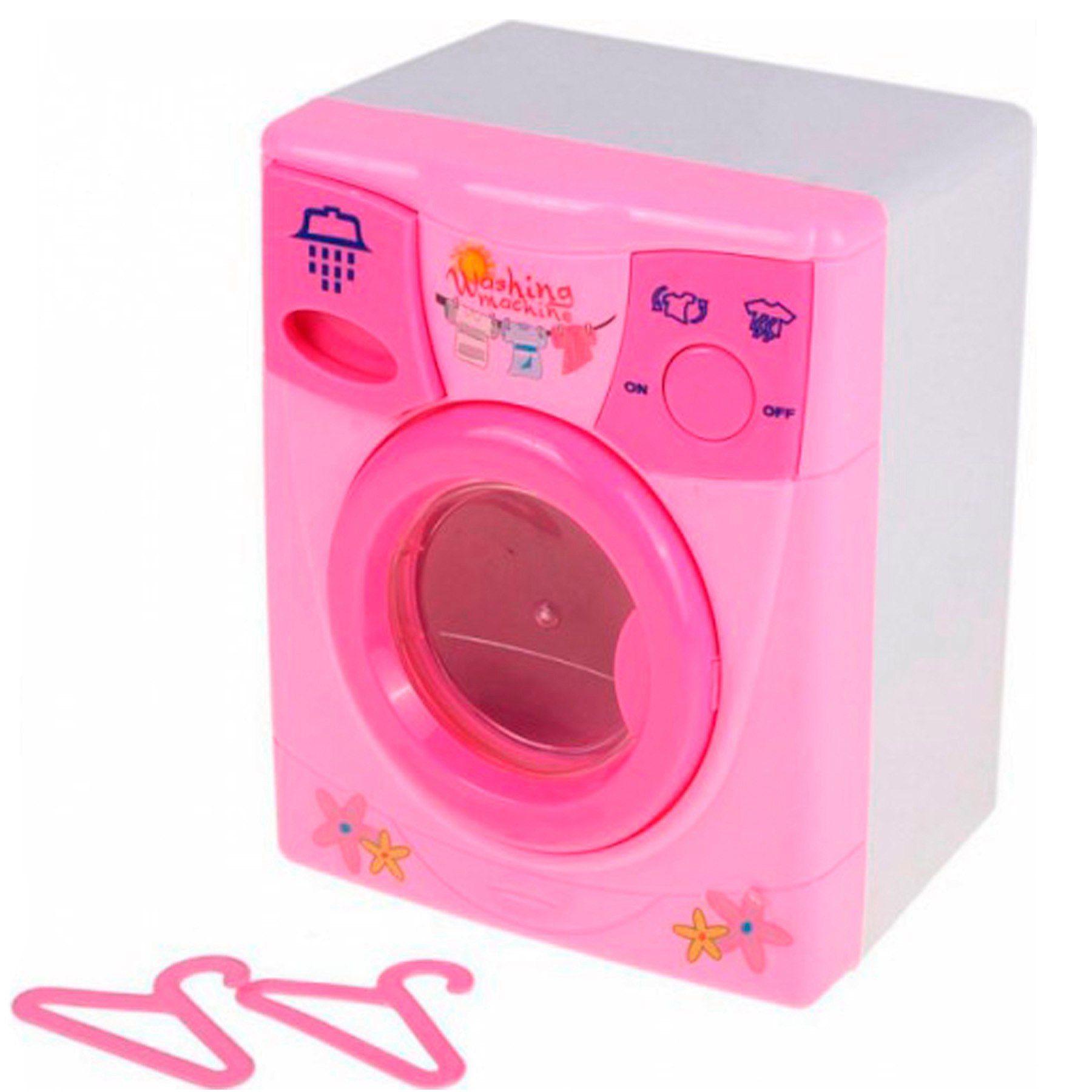 """Игрушечная стиральная машинка """"Уютный дом"""" (свет, звук), розово-белая"""