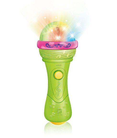 """Игрушечный микрофон """"Диско"""", зеленый (свет, звук)"""