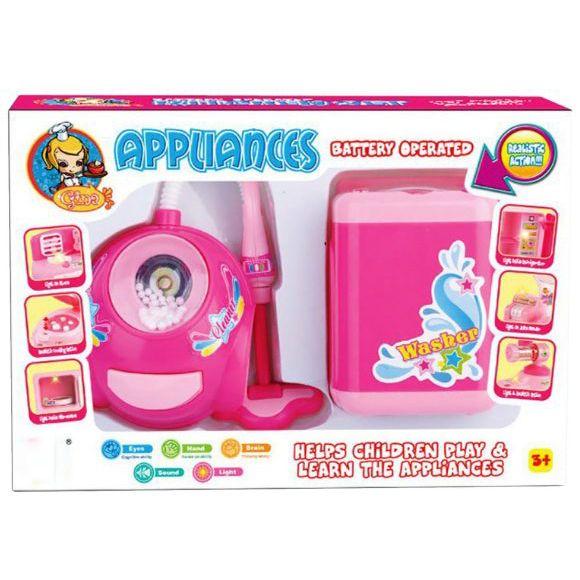 Игровой набор Appliances - Пылесос и стиральная машина (свет, звук)