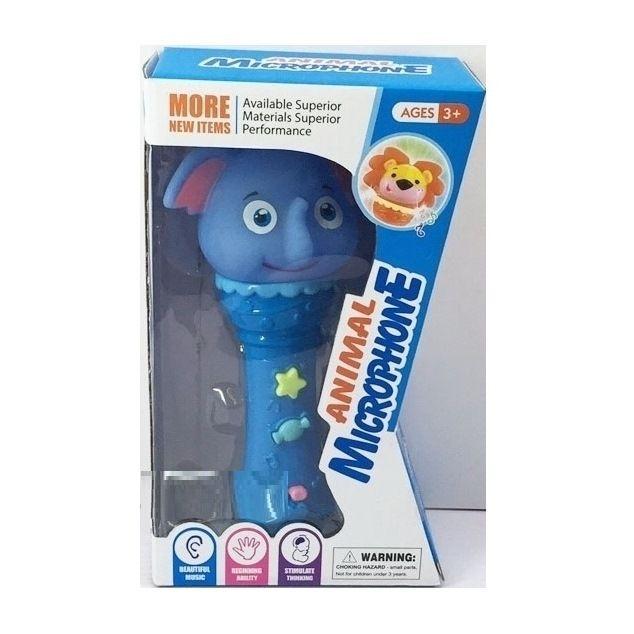 Игрушечный микрофон Animal - Слон (свет, звук)