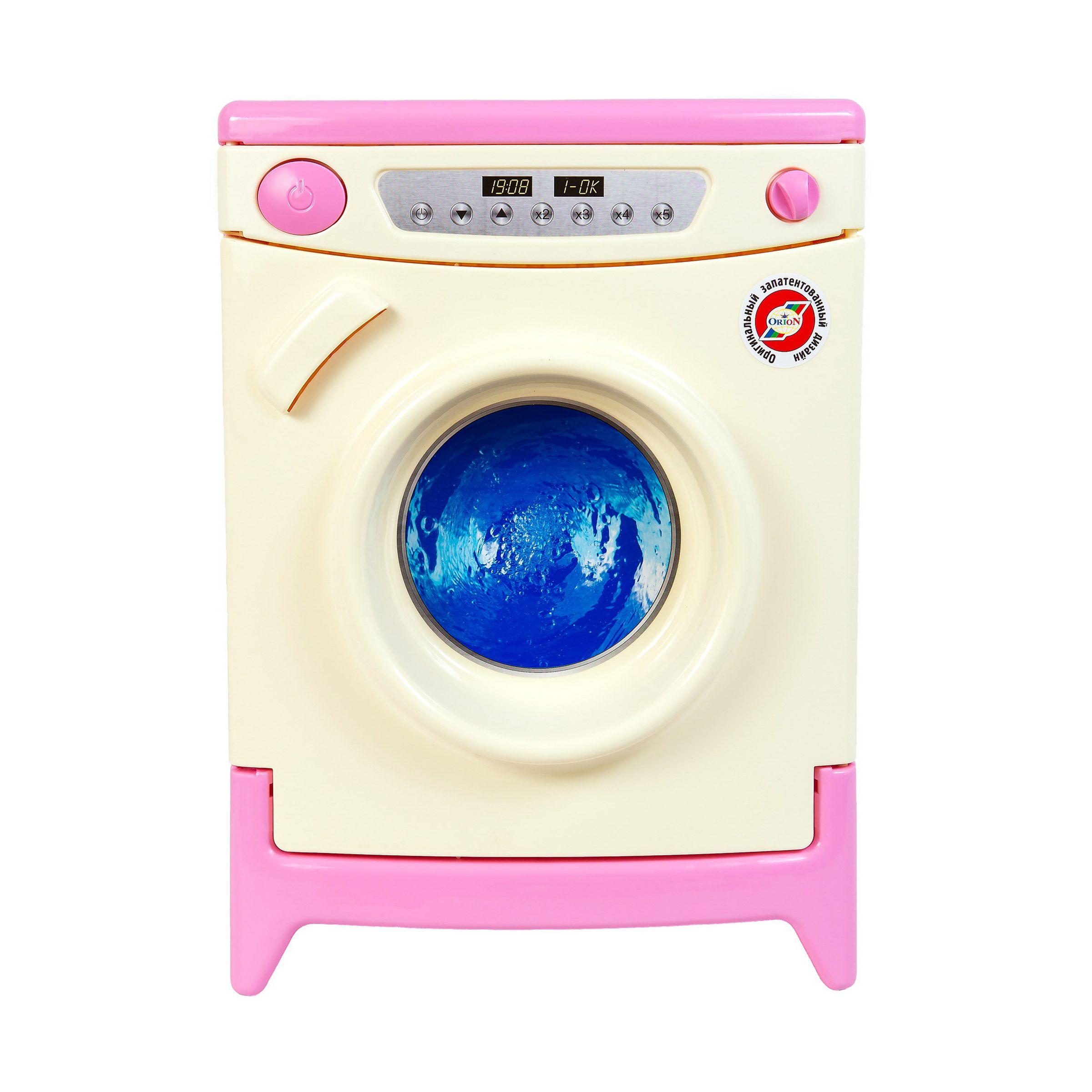 Игровая стиральная машина, бело-розовая (звук)