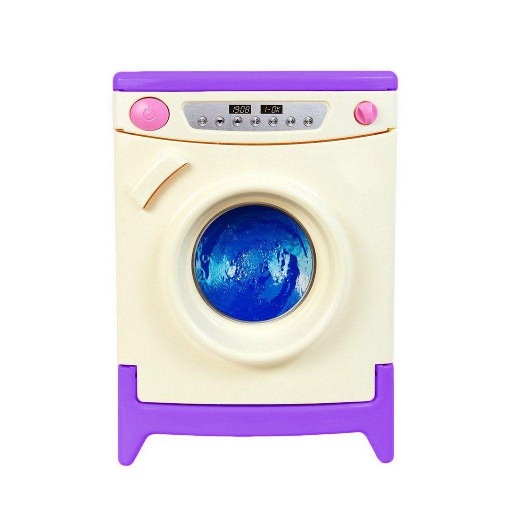 Игровая стиральная машина, бело-фиолетовая (звук)