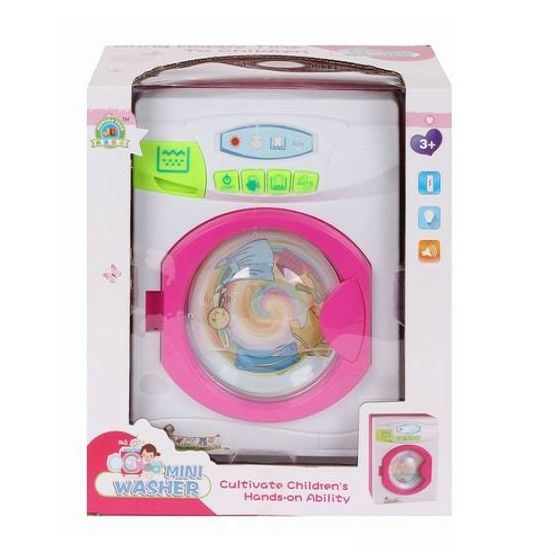 Игрушечная стиральная машинка Mini Washer (свет, звук)