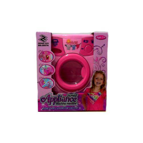 Стиральная машинка, розовая