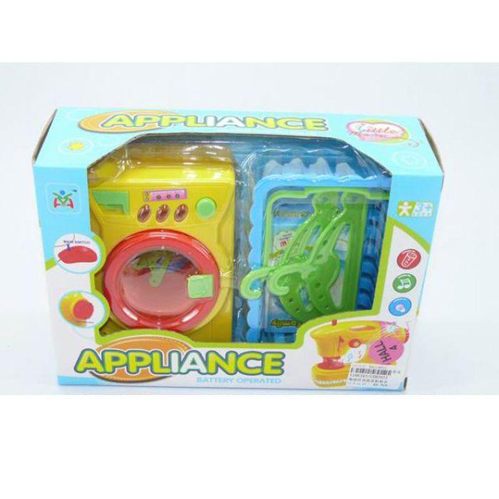Игровой набор Appliance - Стиральная машинка с аксессуарами (свет, звук)