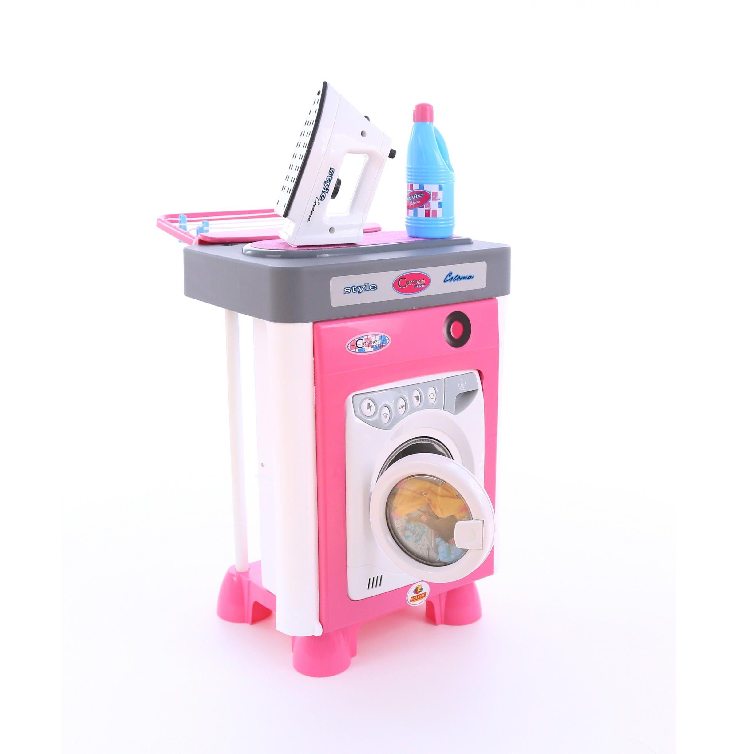 Игровой набор Carmen №2 - Стиральная машинка с аксессуарами (звук)