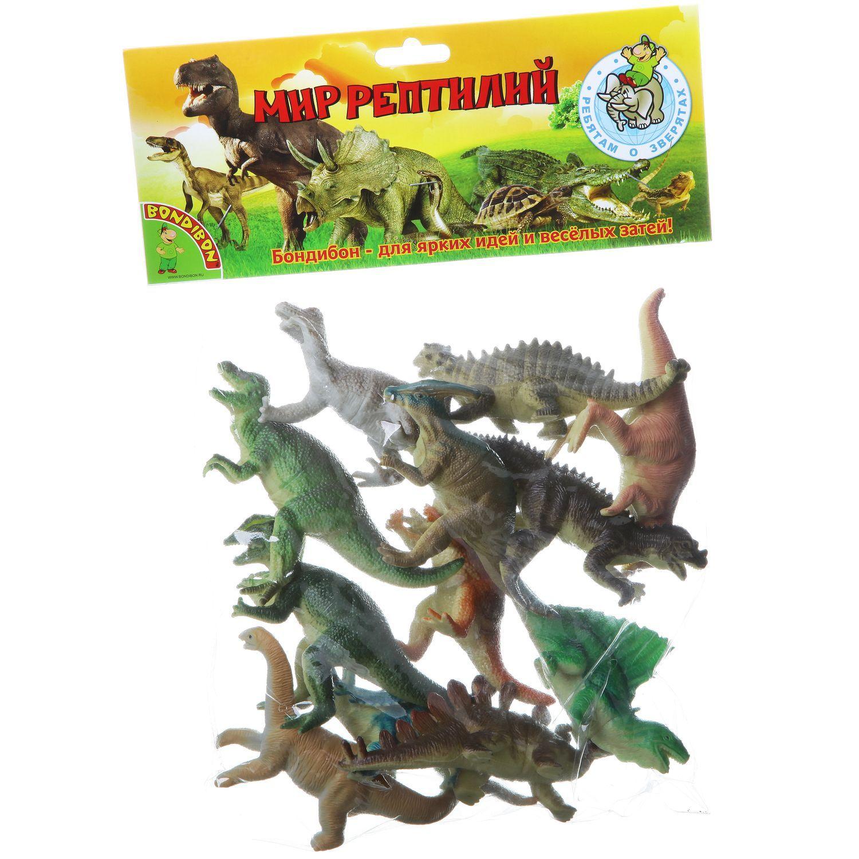 """Набор животных """"Ребятам о Зверятах"""" - Мир рептилий, 12 шт."""