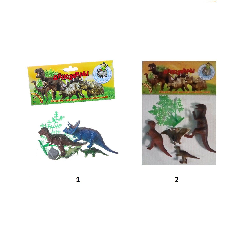 """Набор животных """"Ребятам о зверятах"""" - Динозавры, 4 фигурки"""