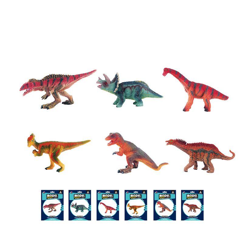 Фигурки хищных и травоядных динозавров