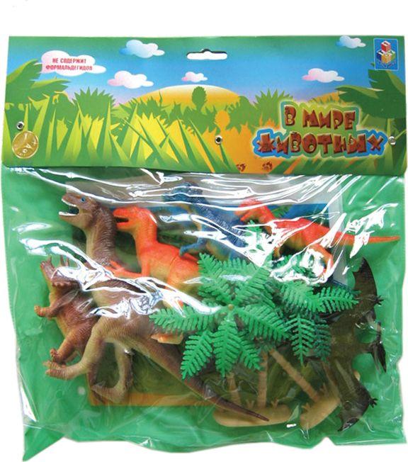 """Набор фигурок """"В мире животных"""" - Динозавры, с аксессуарами, 10 шт."""