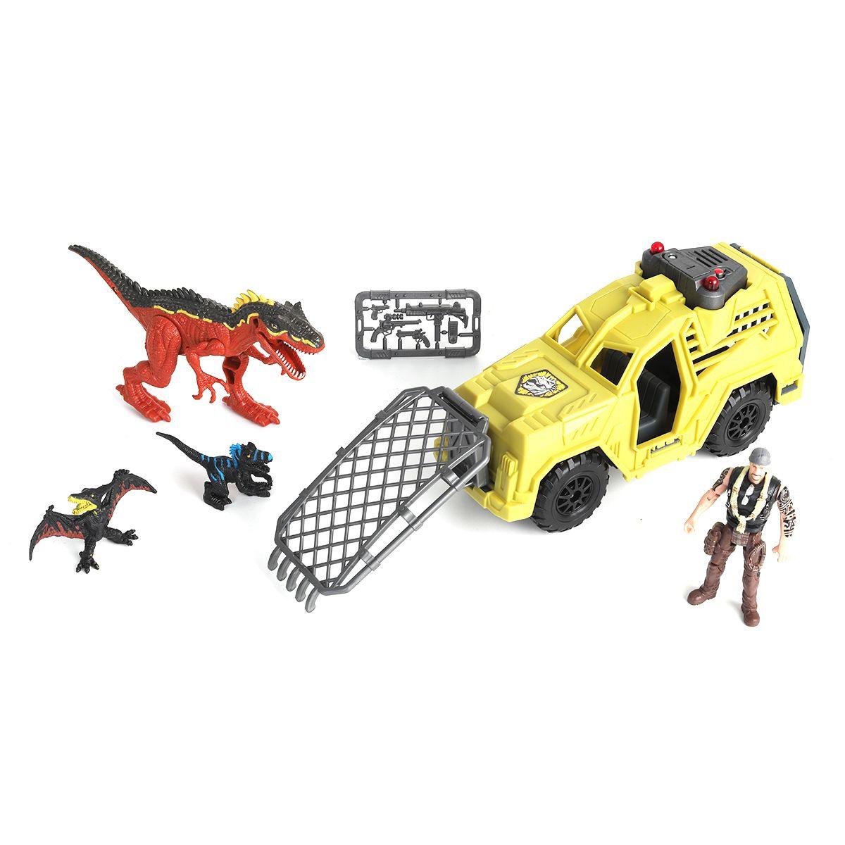 """Игровой набор """"Охотник на динозавра на джипе"""""""