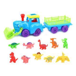 """НИгровой набор """"Динозавры с машиной"""""""