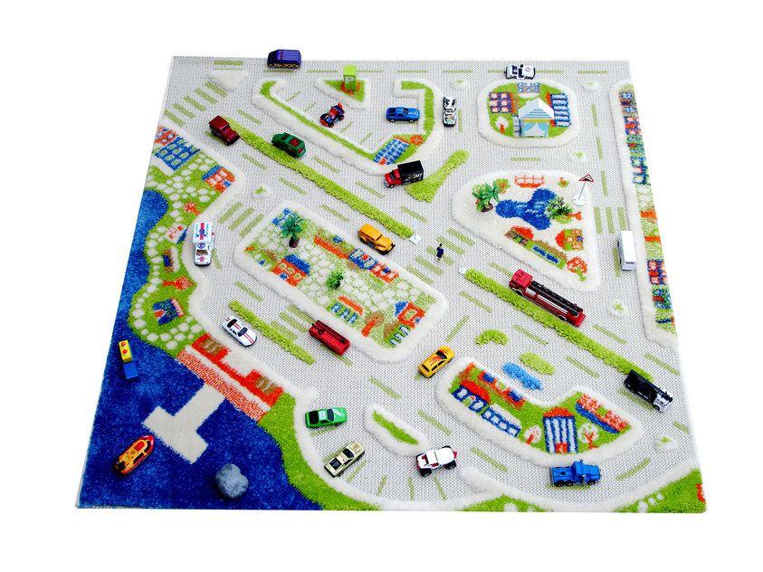 """Детский игровой 3D-ковер """"Мини город"""", 100 х 100 см"""