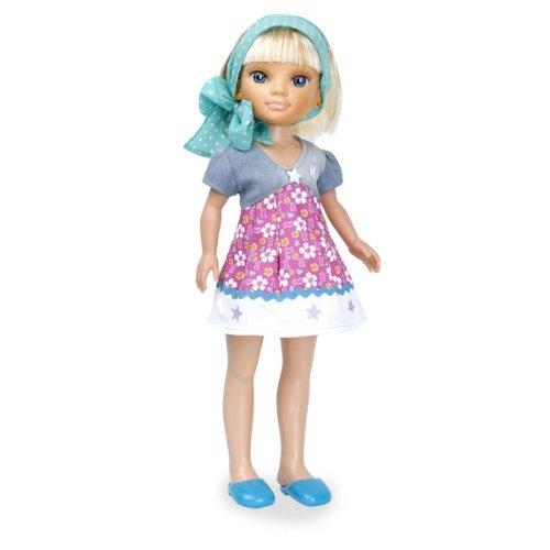 Кукла Нэнси на отдыхе в голубом платке - Блондинка, 43 см