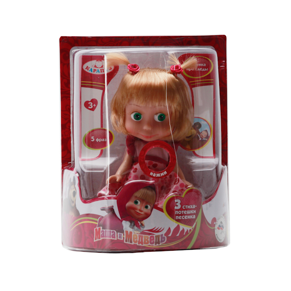 """Озвученная кукла """"Маша и Медведь"""" - Маша, 15 см"""