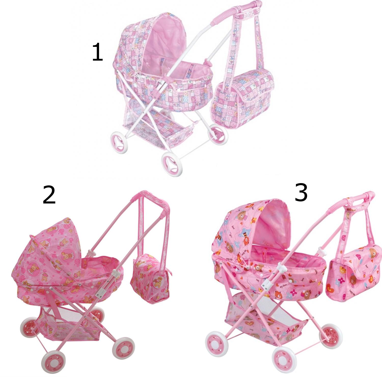 Складная коляска для кукол с сумкой