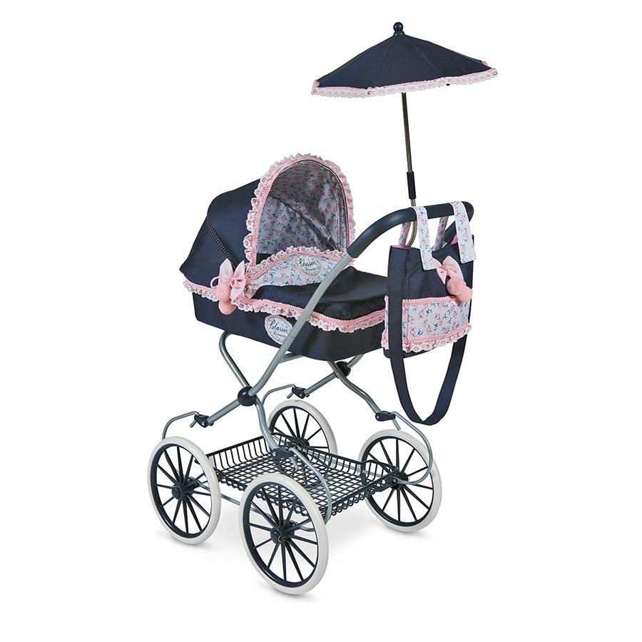 """Коляска для кукол """"Романтик"""" с сумкой и зонтиком, 81 см"""