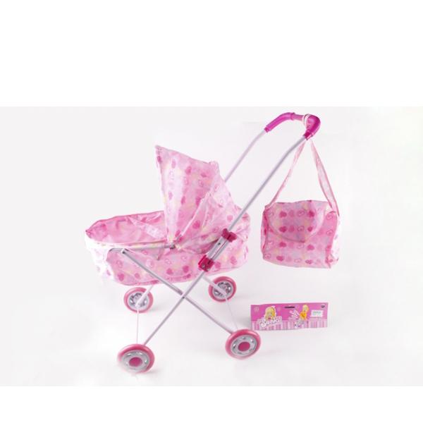 Классическая коляска для кукол с сумкой