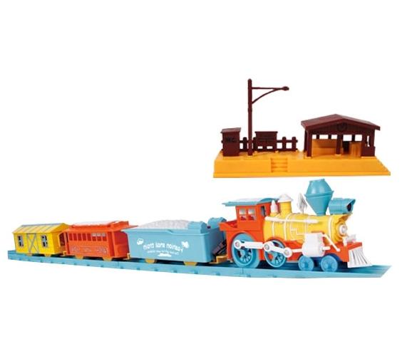 """Набор """"Железная дорога"""" - Универсальный поезд (свет, звук), 66 элементов"""