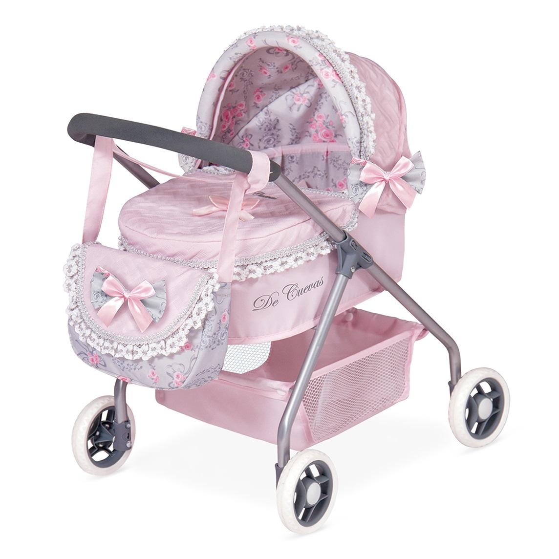 """Коляска для кукол """"Романтик"""" с сумкой, розовая, 56 см"""
