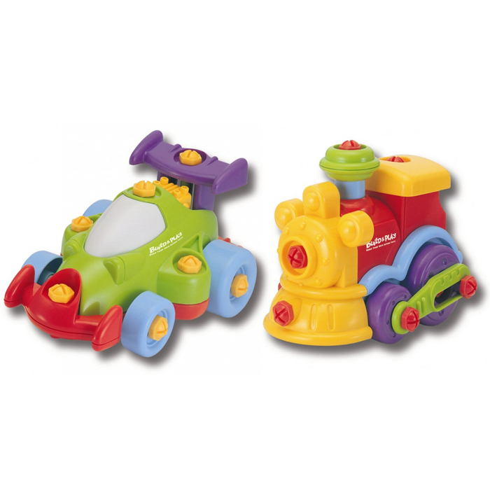 Набор Build & Play - Машинка и паровозик
