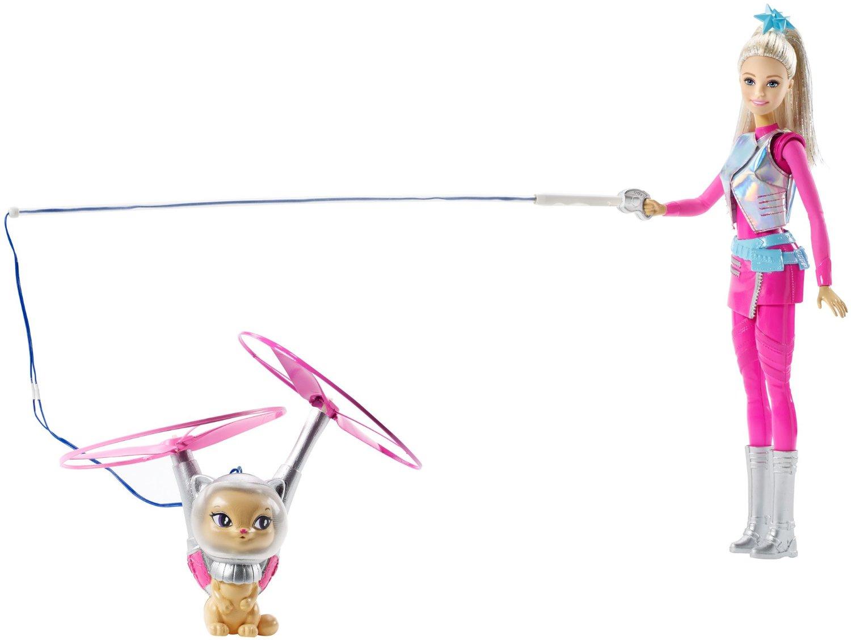 """Игровой набор """"Звездные приключения"""" - Барби с летающим котом Попкорн"""