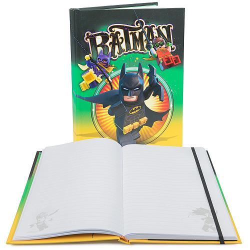 """Книга для записей в линейку LEGO Batman Movie """"Бэтмен"""", с резинкой, 96 листов"""