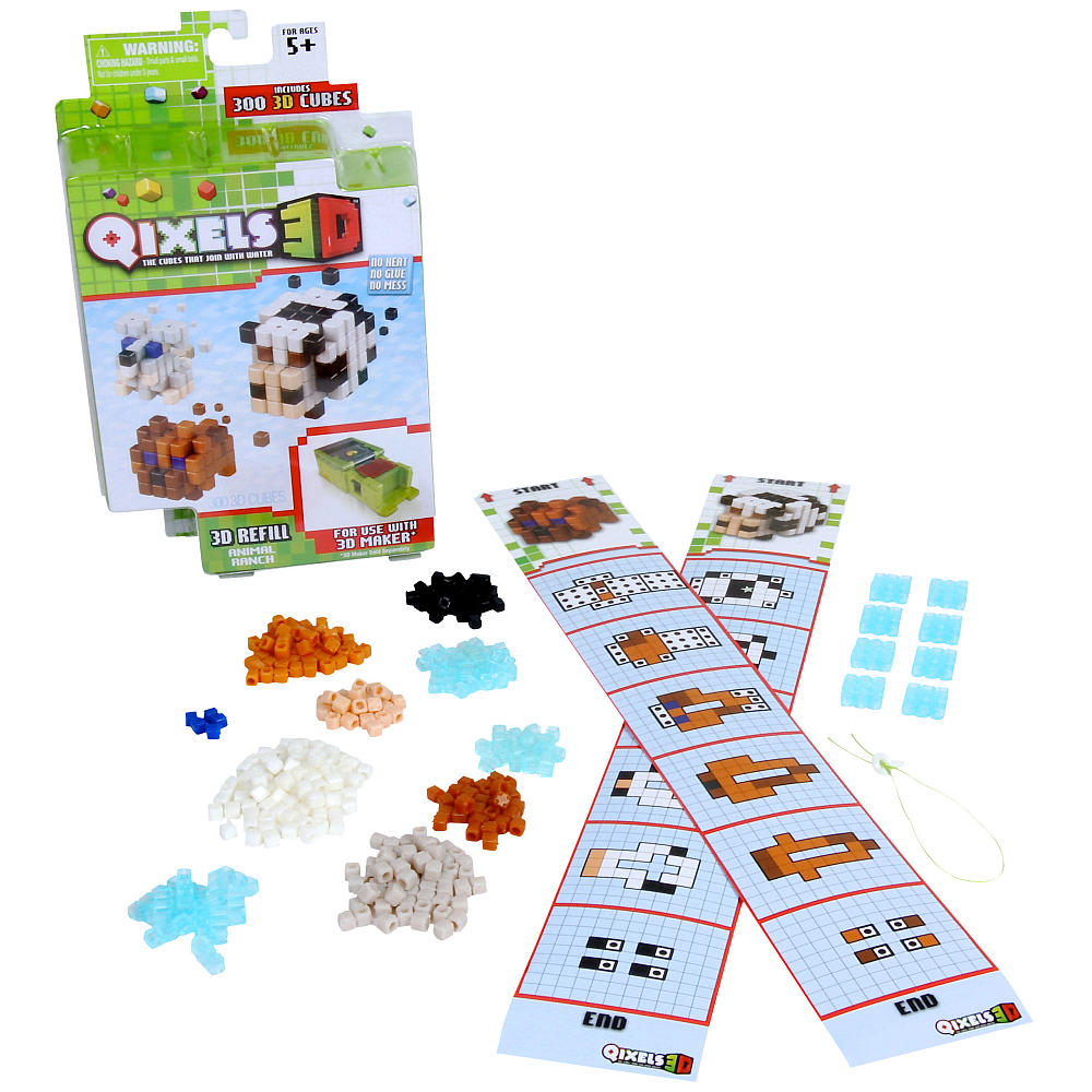 Дополнительный набор Qixels для 3D принтера - Ранчо с животными