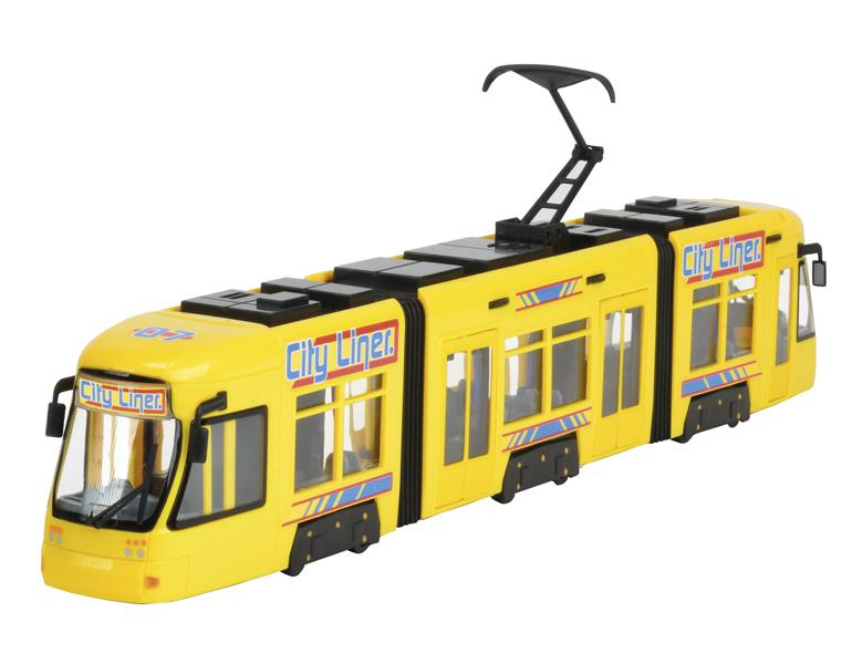 Городской трамвай City Liner, желтый, 46 см