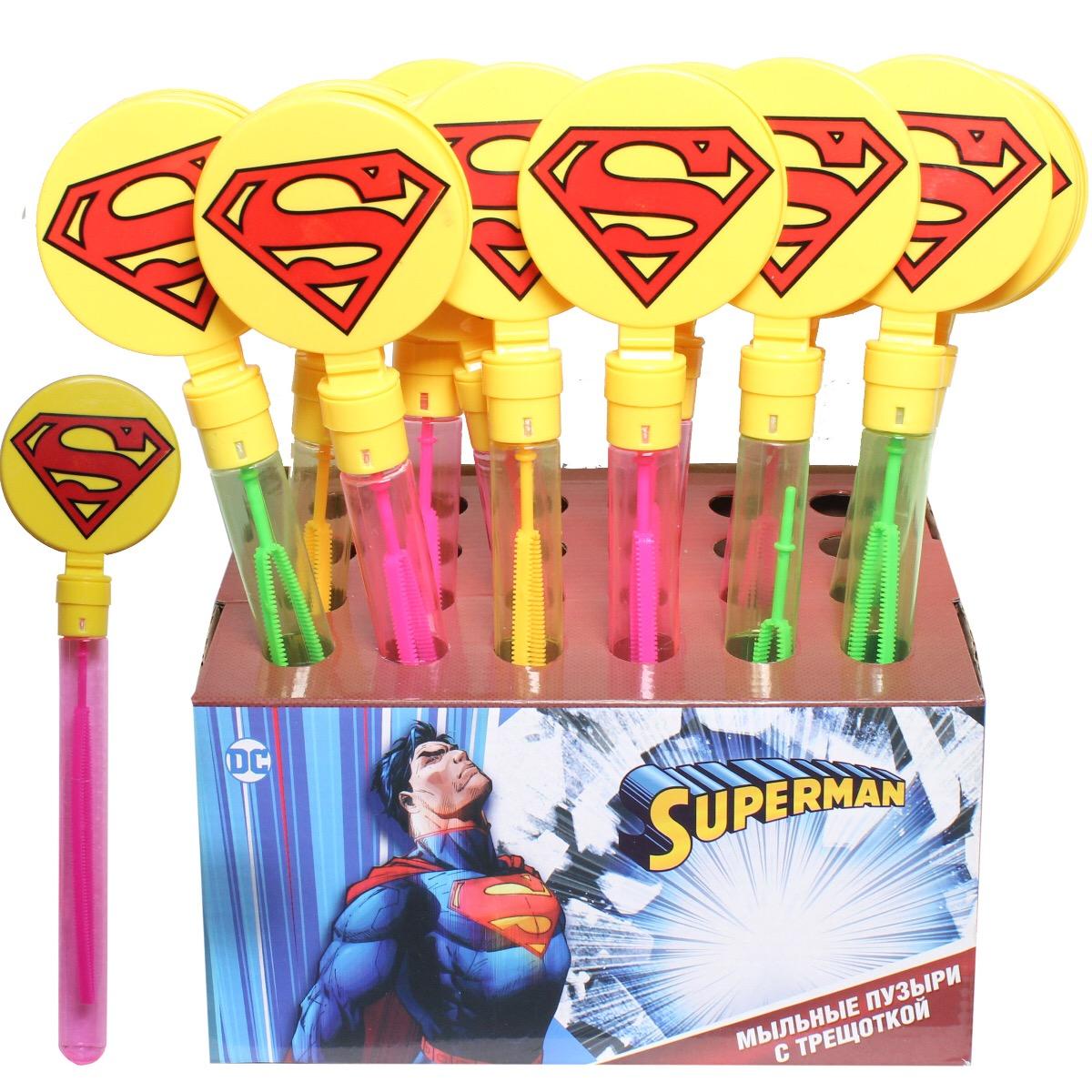"""Мыльные пузыри с трещоткой """"Супермен"""""""