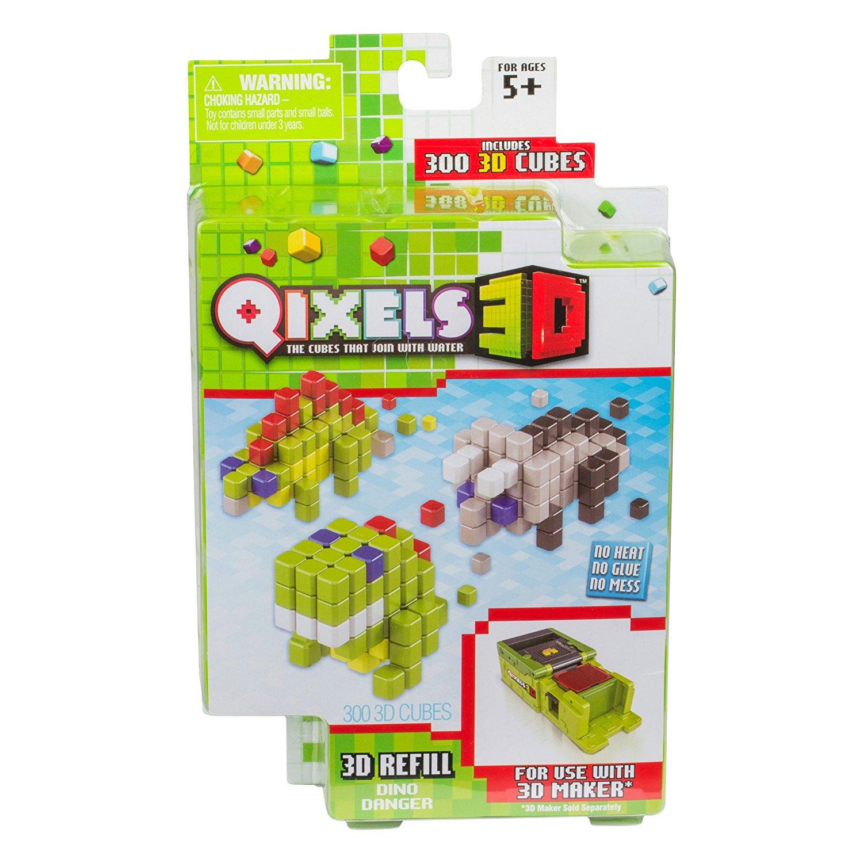 Дополнительный набор для 3D-принтера Qixels - Dino Danger