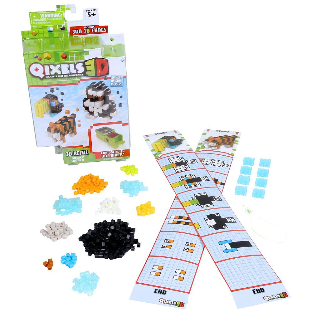 Дополнительный набор Qixels для 3D принтера - Мир джунглей