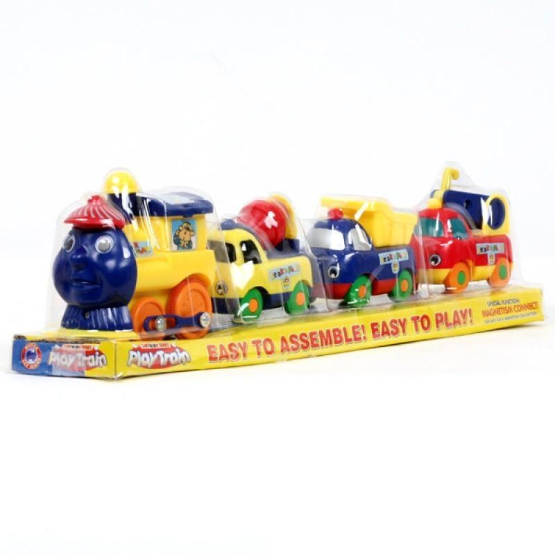 Игровой набор Play Train - Паровоз с машинками, звук, движение