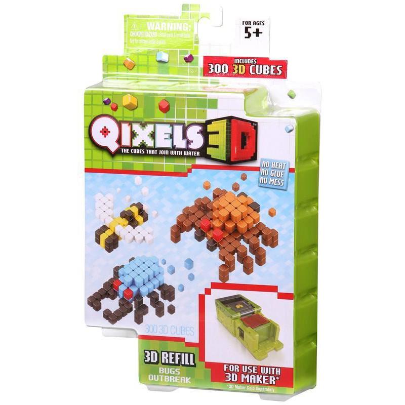 Дополнительный набор для 3D-принтера Qixels - Bugs Outbreak