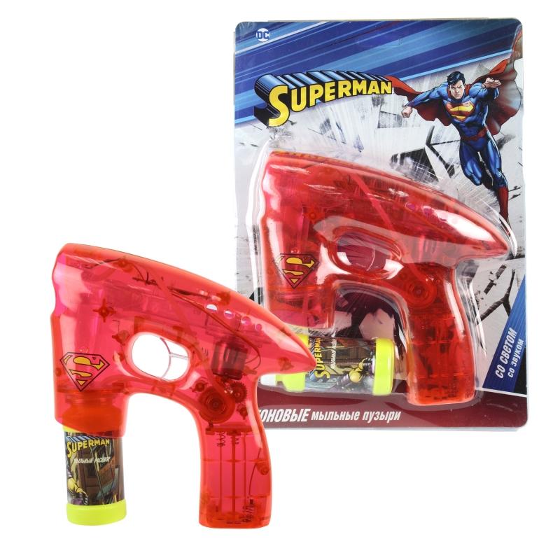 """Пистолет для мыльных пузырей """"Супермен"""" (свет, звук)"""