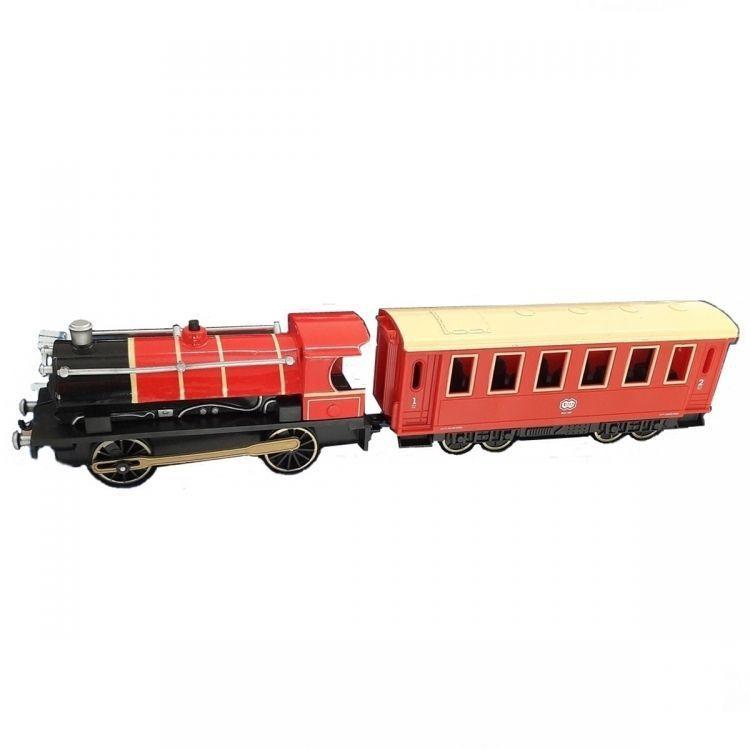 Классический поезд Teamsterz City (свет, звук), красный, 1:55