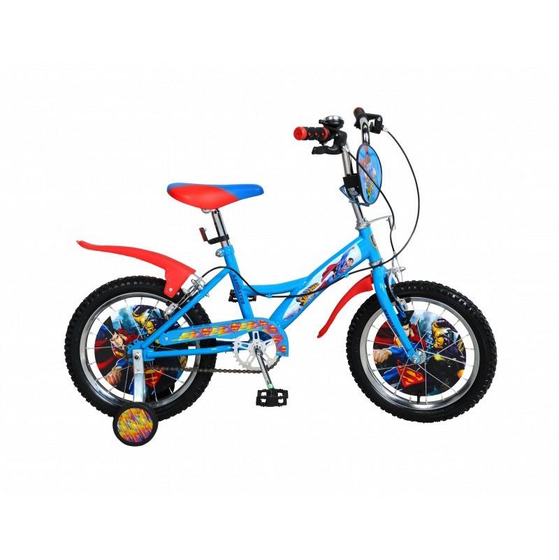 """Велосипед со страховочными колесами """"Супермен"""", 16"""""""