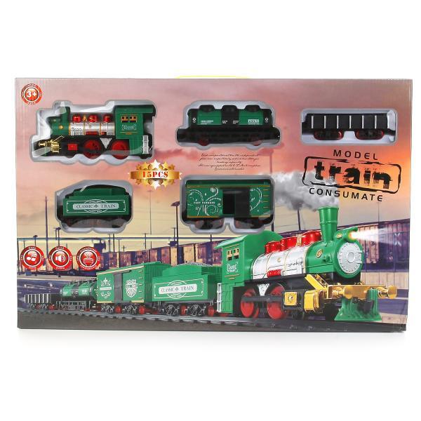 Железная дорога Train - Классический поезд (свет, звук), 15 деталей