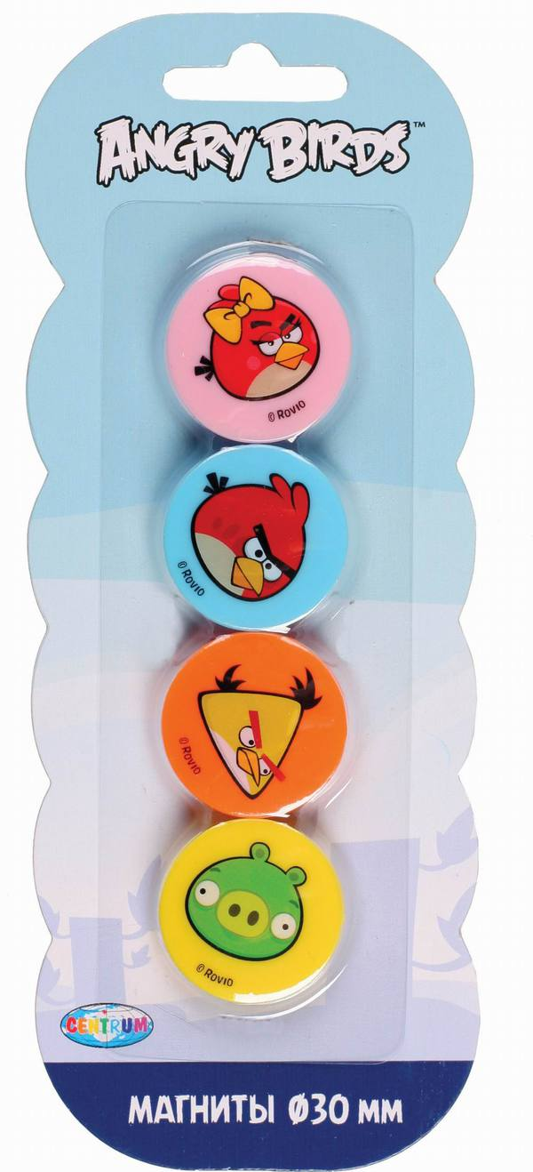 Набор магнитов Angry Birds, 4 штуки