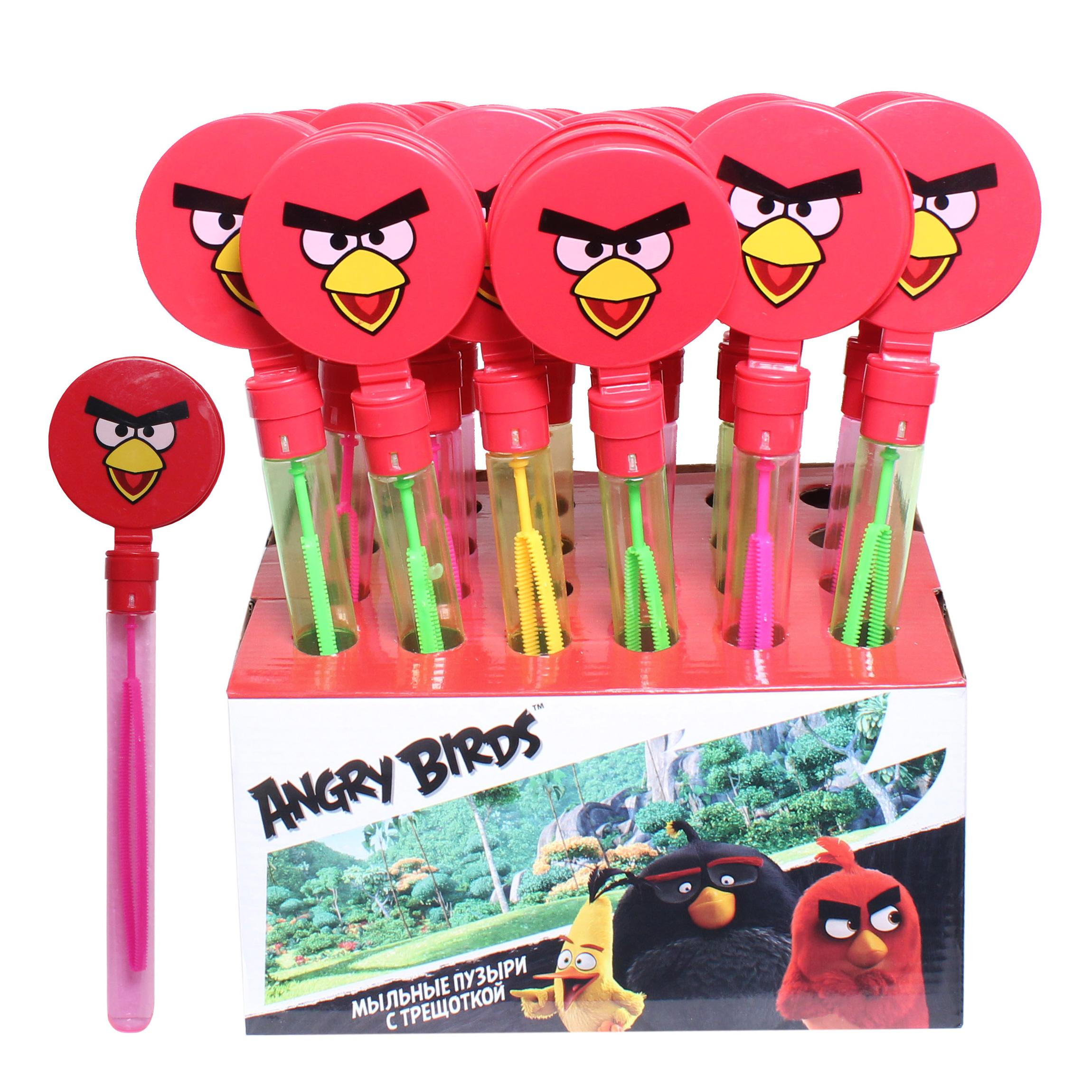 Мыльные пузыри Angry Birds с трещоткой, 60 мл