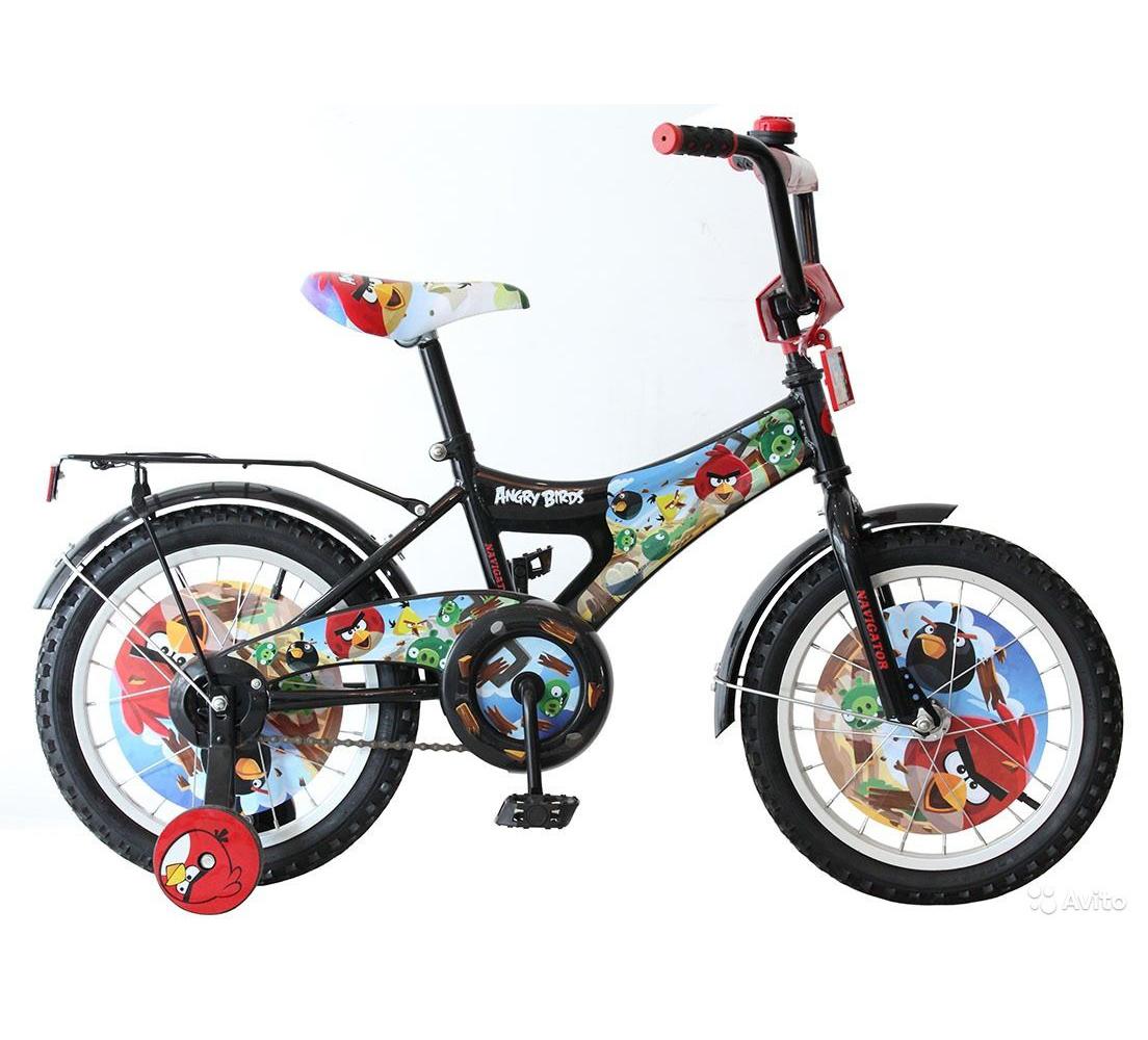 Велосипед Angry Birds, черный