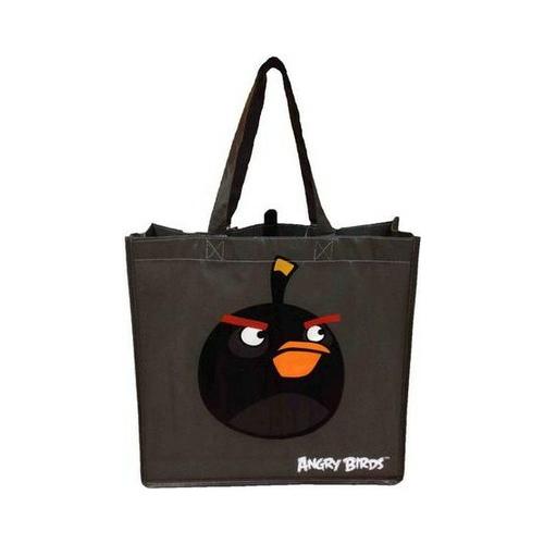 Пакет-сумка Angry Birds , черная, с ручками