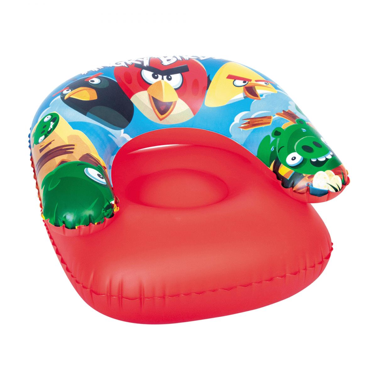 Детское надувное кресло Angry Birds, 76 х 76 см