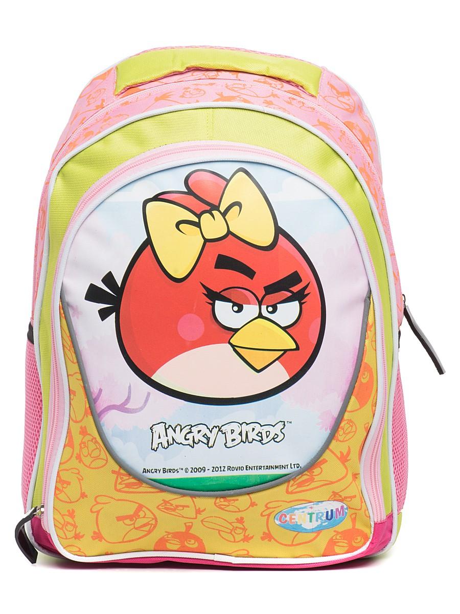 Рюкзак Angry Birds, желто-розовый