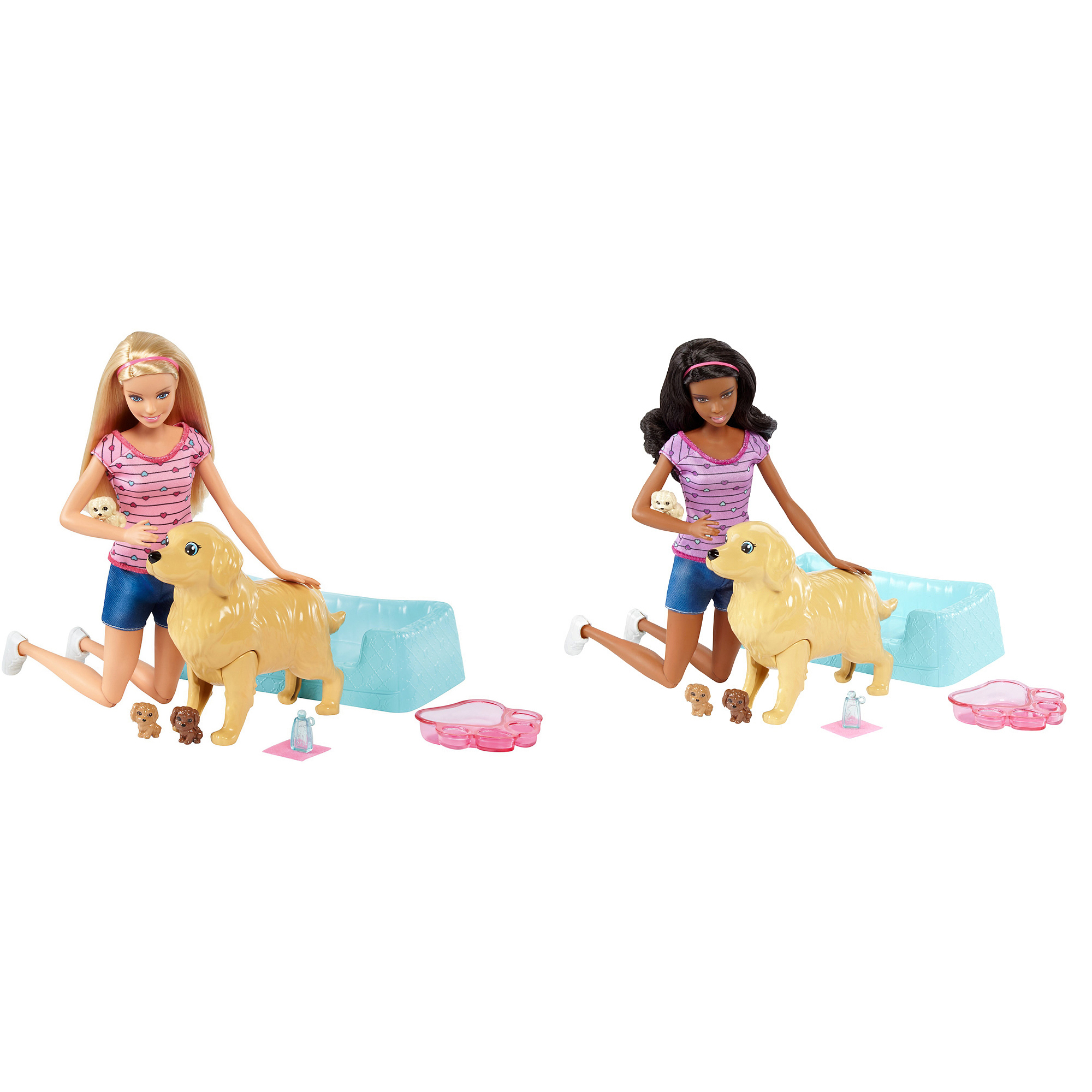 """Игровой набор """"Барби"""" - Кукла и собака с новорожденными щенками"""