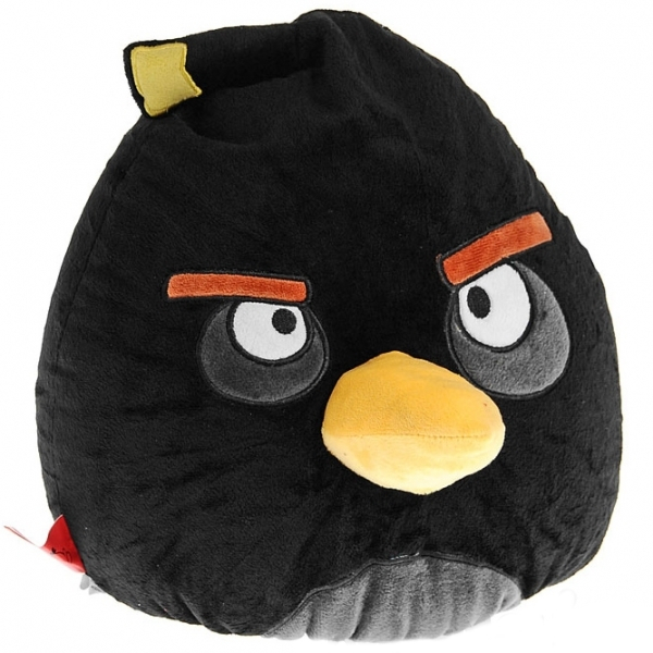 Декоративная подушка Angry Birds - Черная птица