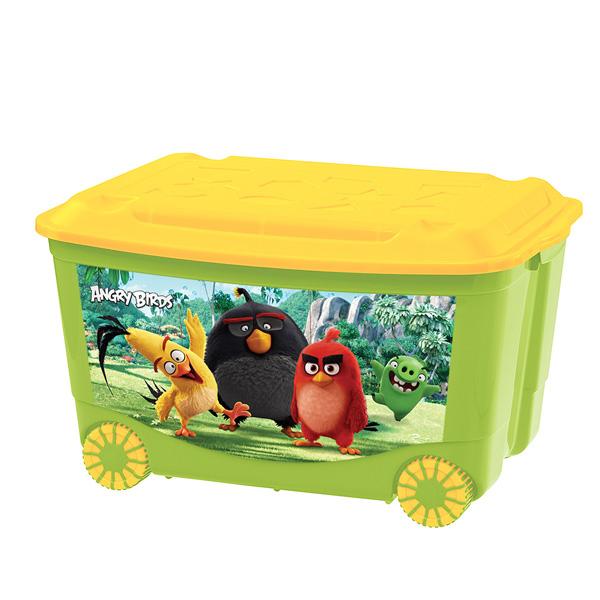 """Ящик для игрушек """"Энгри Бердз"""", зеленый"""