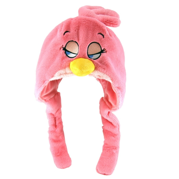 Детская шапка Angry Birds, розовая